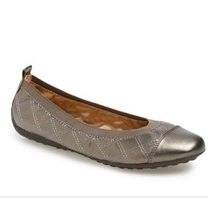 Geox Shoes - Geox Respira Piuma Champagne Leather Ballet Flats